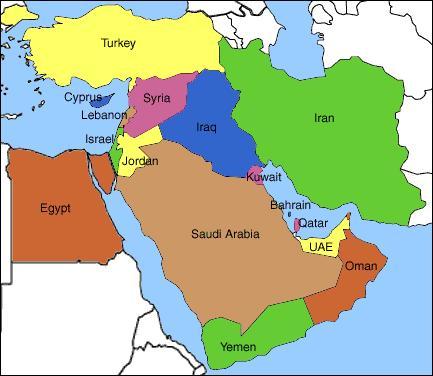 közel kelet térkép A Közel keleti konfliktus: Gyorsított tanfolyam kezdőknek  közel kelet térkép